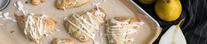 ginger French Butter pear scones with glaze recipe
